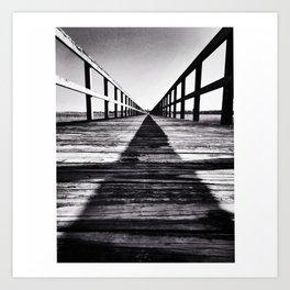 contrast pier Art Print