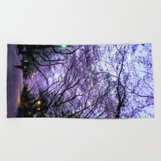 Sakura Walk Beach Towel