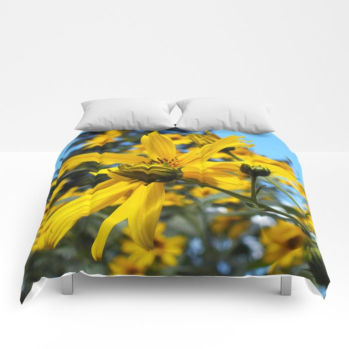 Sunflowers and the Pine Tree Comforters
