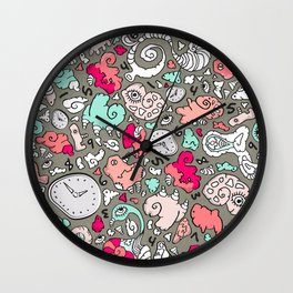 PLAYTIME_B Turquoise Wall Clock