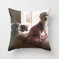 dogs Throw Pillows featuring dogs by Peggy Franz   Photography   FranzsFeatur