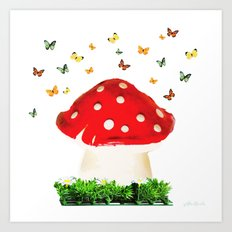 the magical toad stool Art Print
