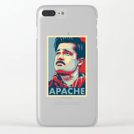 """Aldo the Apache """"Hope"""" poster Clear iPhone Case"""