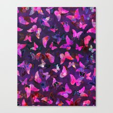 Butterfly Forest Purple Canvas Print