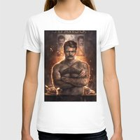 actor T-shirts featuring Ron ****ing Swanson by Sam Spratt