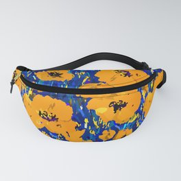 Wild Poppies — Orange Fanny Pack