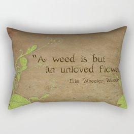 Weeds, Unloved Flowers Rectangular Pillow