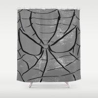 spider man Shower Curtains featuring Spider-Man by Isaak_Rodriguez