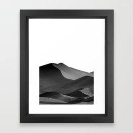 dunes(Black and white) Framed Art Print