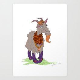 Mr. Gaudy Goat Art Print