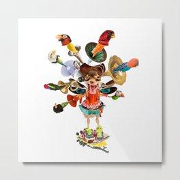 Chicken Legs Ballet Bird Horn Shouter Metal Print