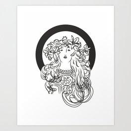 Mucha's Inspiration Art Print
