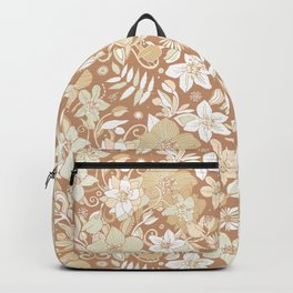 Helleborus and birds | gold Backpack