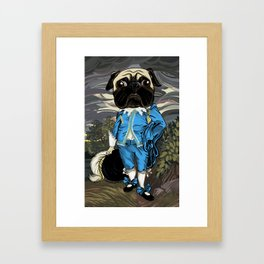 Pug Blueboy Framed Art Print