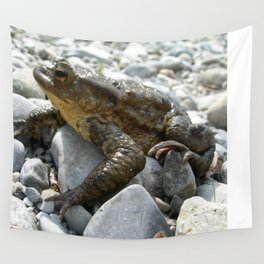 Bufo Bufo Toad Lounging On Stones Wall Tapestry