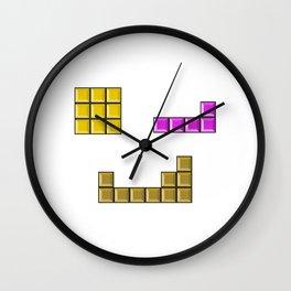Tetris face #society6 #decor #buyart #artprint Wall Clock