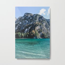 One day at an alpine lake in north Italy. Metal Print