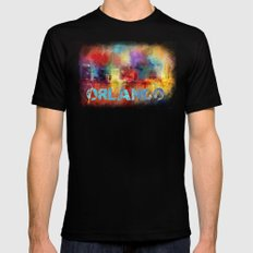 Sending Love To Orlando MEDIUM Mens Fitted Tee Black