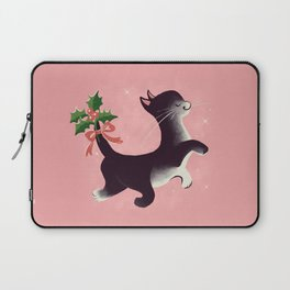 Holly Jolly Vintage Holiday Kitty Cat Cutie Laptop Sleeve