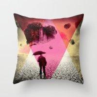 dessert Throw Pillows featuring DESSERT RAIN by d.ts