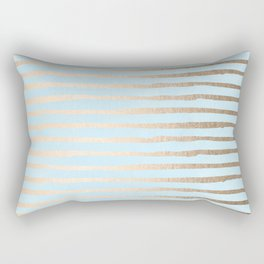 Abstract Stripes Gold Tropical Ocean Sea Turquoise Rectangular Pillow