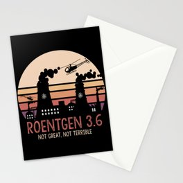 Roentgen 3.6 Not Great Not Terrible Memes Facts design Stationery Cards