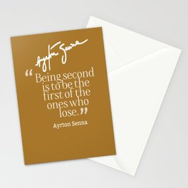 Ayrton Senna Quote Stationery Cards