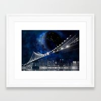 new york city Framed Art Prints featuring New!! New York City by Simone Gatterwe