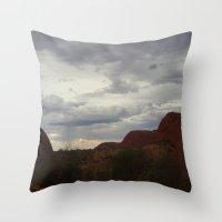 australia Throw Pillows featuring Australia by Mel Waldron