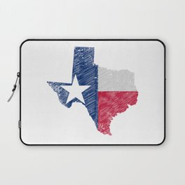 Texas Map Grunge and Flag Laptop Sleeve