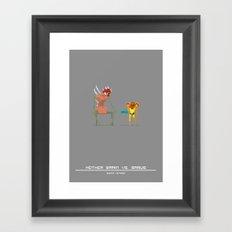 Super Mother Hunter Framed Art Print