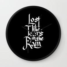 Like Tears In The Rain Wall Clock