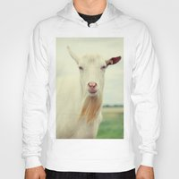 goat Hoodies featuring Goat by Falko Follert Art-FF77