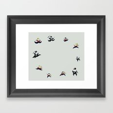 Ten Lords-a-Leaping Framed Art Print