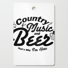Country Music and Beer Cutting Board