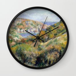 "Auguste Renoir - ""Hills around the Bay of Moulin Huet"" Wall Clock"