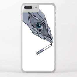 Facing my vices Clear iPhone Case