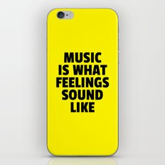 Music Feelings Sound Like Quote iPhone & iPod Skin