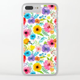 Flowers_104 Clear iPhone Case