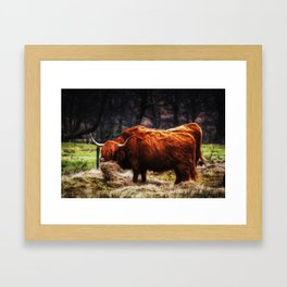 Hairy Coo Framed Art Print