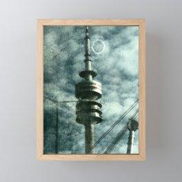 Munich television tower Framed Mini Art Print