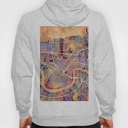 New Orleans City Street Map Hoody