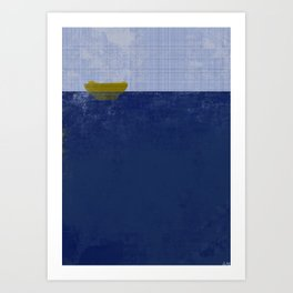 Sea vs Gravity  Art Print