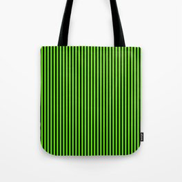 Striped black and light green background Tote Bag