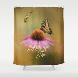 Butterflies At Play Shower Curtain