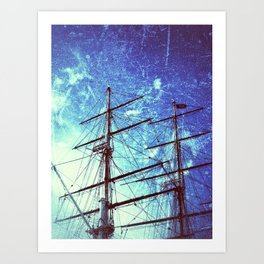 Cutty Sark In Blue Art Print