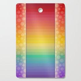 Colorful Rainbow Background Cutting Board