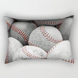 Vintage Baseballs Rectangular Pillow