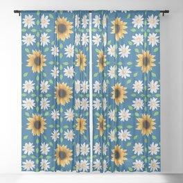 Flower Mandala - Classic Blue Sheer Curtain