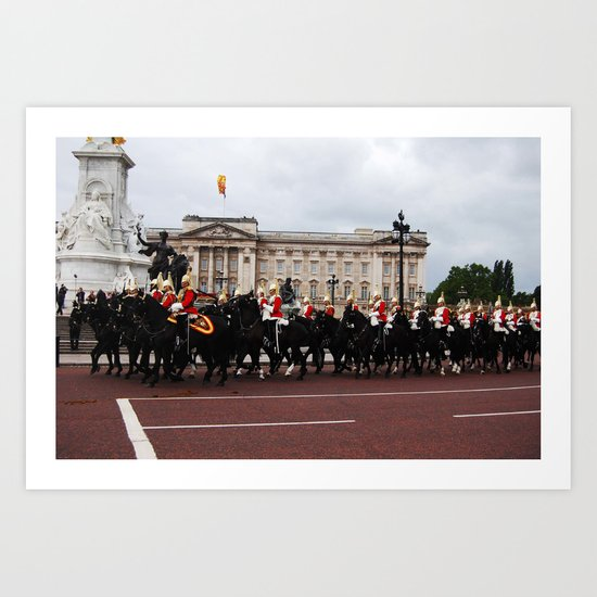 The Guards and Buckingham Palace 8 Art Print